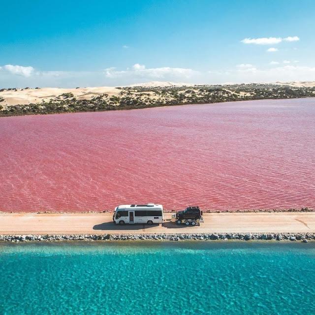 7 Danau Pink Penuh Pesona Yang Terdapat Di Australia
