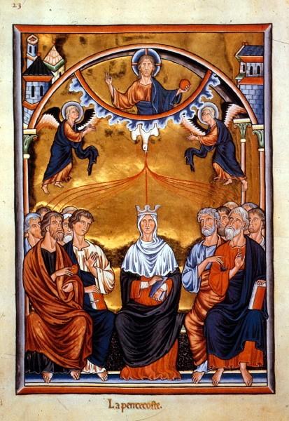 Ingeborg Psalter, Pentecost  Musée Condé MS. 66  ca. 1200  Musée Condé, Chantilly