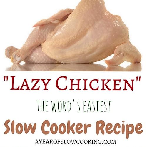 Lazy Chicken CrockPot Recipe