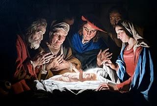 Adoration of the Shepherds by Matthias Stomer