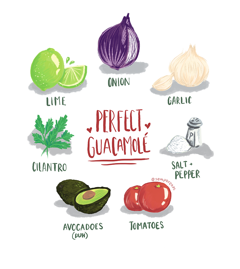Pepper Raccoon perfect guacamole illustration print