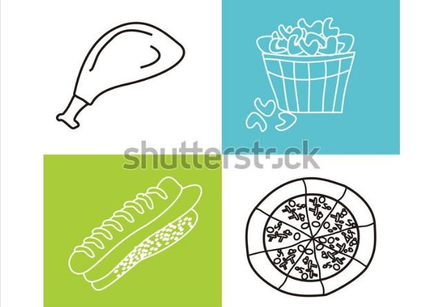 illustration wallpaper fast food