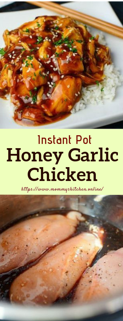 Instant Pot Honey Garlic Chicken #dinner #recipe