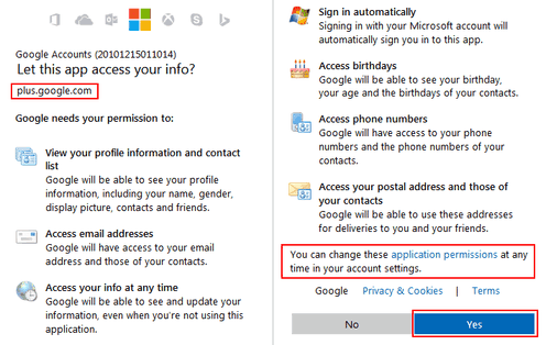 google access microsoft account