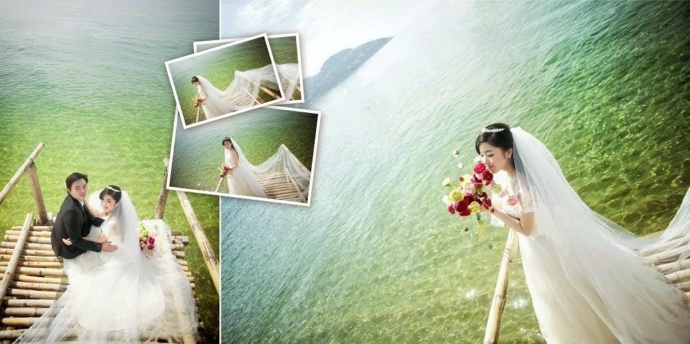 Chụp ảnh cưới ở công viên biển Đà Nẵng