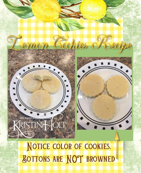 Kristin Holt | Lemon Cookies Recipe (1895) - Pic 16- Finished product shown in photos, both tops and bottoms to show that cookies should not be browned.