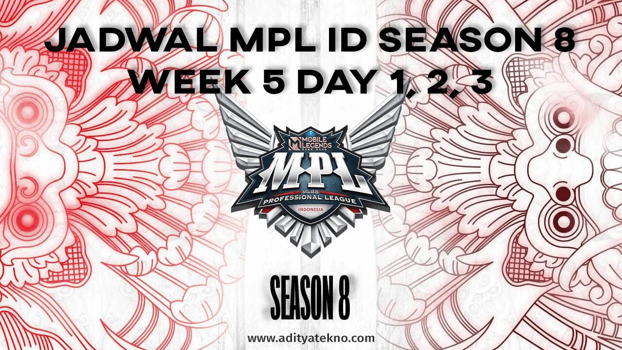 Jadwal MPL ID Season 8 Week 5