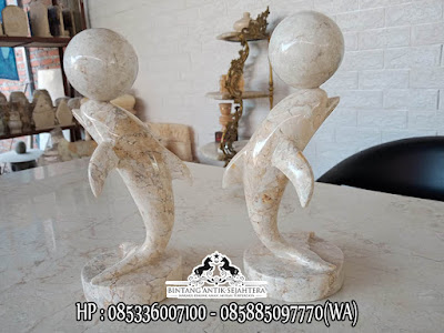Patung Ikan Batu Alam, Patung Batu Marmer, Produk Patung Marmer Tulungagung