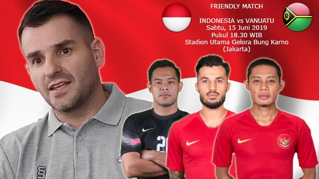 Prediksi Laga Persahabatan Indonesia vs Vanuatu (15 Juni 2019)