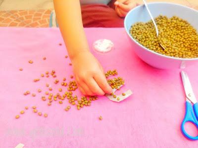 kegiatan anak usia dini dengan menggunakan kacang hijau