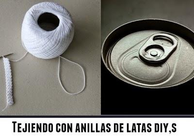Cómo hacer artesanías de crochet con anillas de Lata
