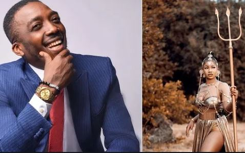 Titans are everywhere – Bovi jokingly 'blames' fans of Tacha as his visa application is rejected by US embassy (screenshot)