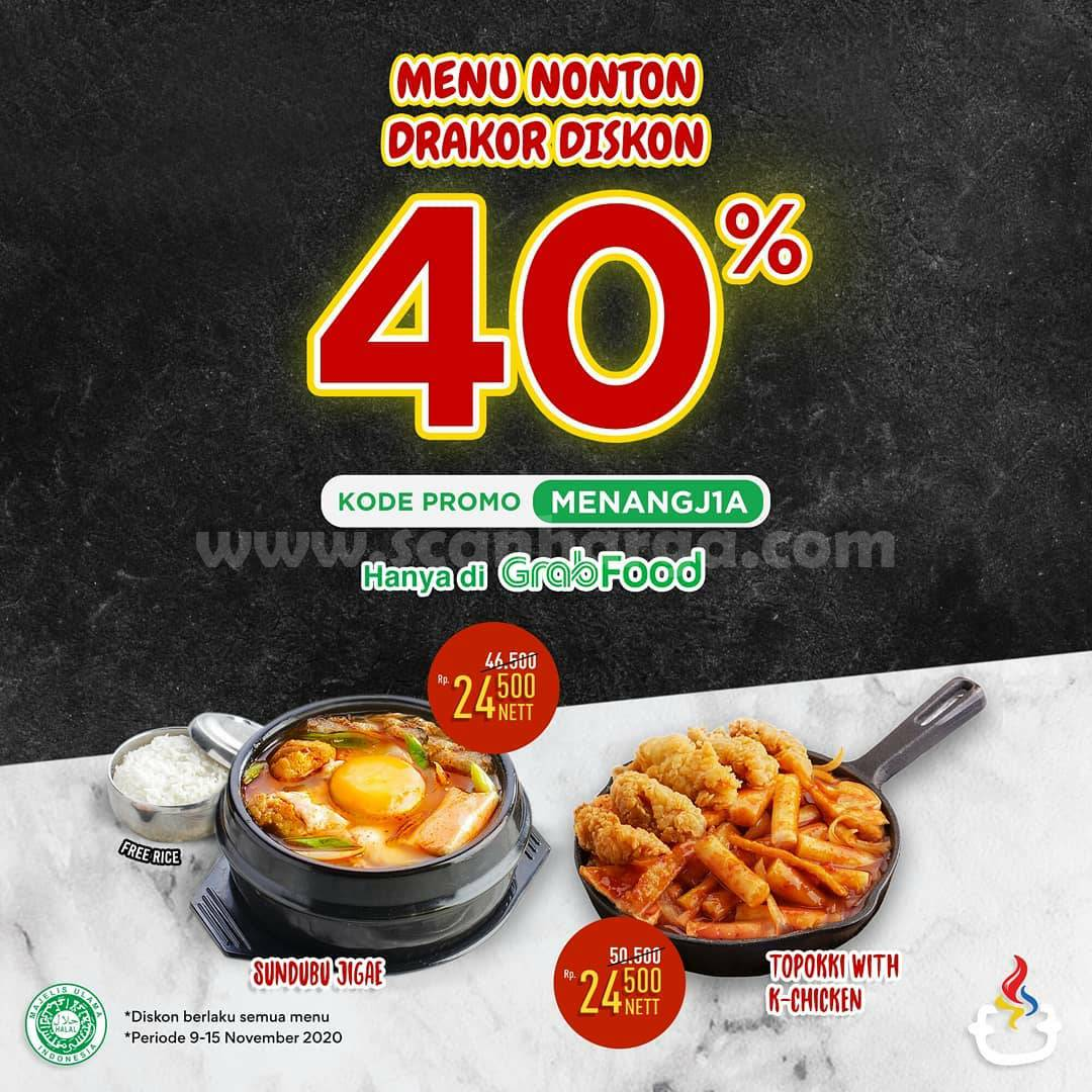 Mujigae Promo Menu Nonton DRAKOR Diskon 40% via Grabfood