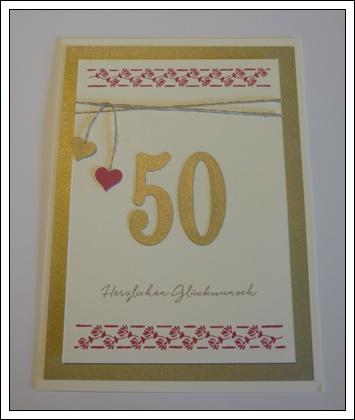 Kreatives Aus Papier Geschenk Zur Goldenen Hochzeit