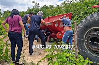 Homem morre após ser esmagado por retroescavadeira no Norte do Piauí