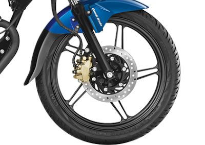 Honda CB Shine SP front wheel