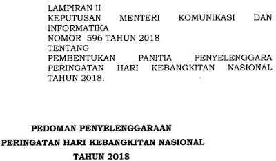 Pedoman Peringatan Hari Kebangkitan Nasional 2018
