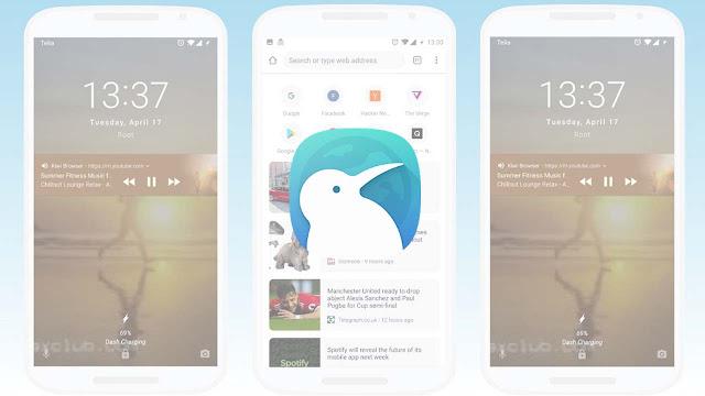 تنزيل متصفح Kiwi Browser  متصفح بسيط وعالي السرعة  لنظام الاندرويد