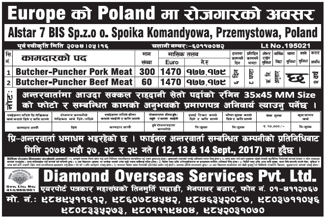 Jobs in Poland for Nepali, Salary Rs 1,77,179