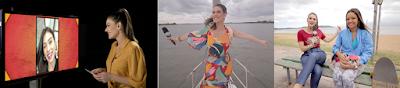 Brunna em bate-papo com Flavia Pavanelli / Apresentadora nas aguas do Guaíba e no quadro Meu Pet é uma Estrela (Foto: Divulgação/SBT)