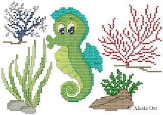 Free cross-stitch patterns, Seahorse, fish, sea, seaweeds, sea-patterns, clipart, cross-stitch, back stitch, cross-stitch scheme, free pattern, x-stitchmagic.blogspot.it, вышивка крестиком, бесплатная схема, punto croce, schemi punto croce gratis, DMC, blocks, symbols, patrones punto de cruz, #crossstitch_pattern, #crossstitch