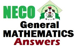NECO 2017 Maths Answers & Questions [OBJ and THEORY Answers].