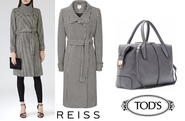 The Duchess Of Cambridge's REISS Rubik Coat and TOD'S D Styling Bag