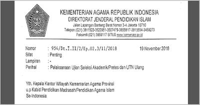 Jadwal Pretes PPG Madrasah Kemenag 2018