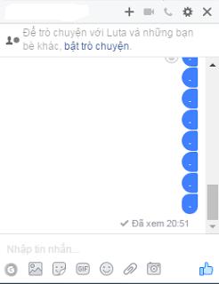 tắt chữ đã xem khi chat facebook