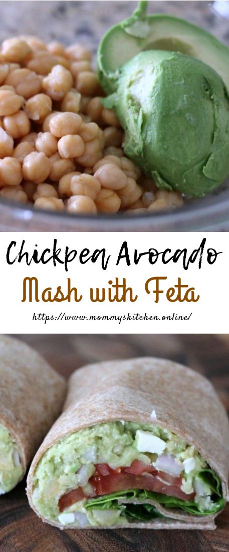 Chickpea Avocado Mash with Feta #recipevegan #vegetarian