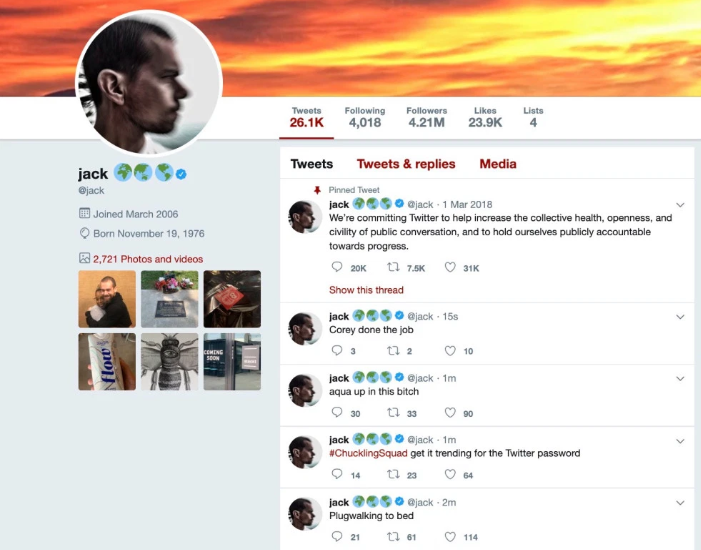 - jack - Twitter CEO Jack Dorsey Account Hacked using Sim Swapping Attack