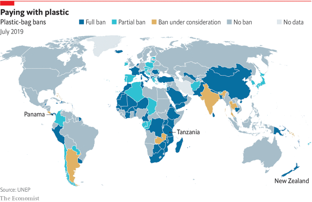 countries which are really concerned about plastic pollution ban plastic bags