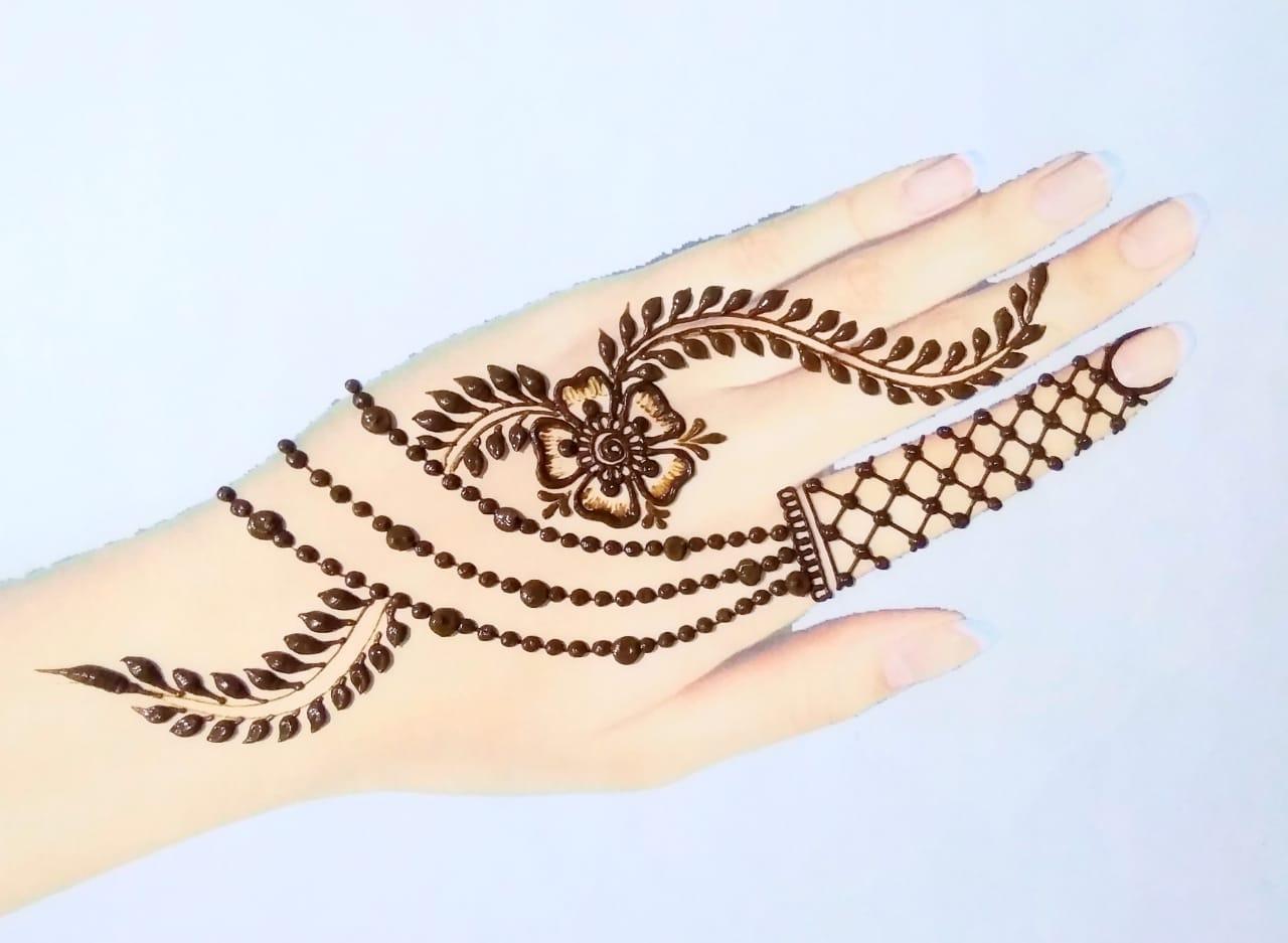 Easy Flower Henna Designs