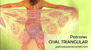 Patrones de Maravilloso Chal Triangular a Crochet 🌺