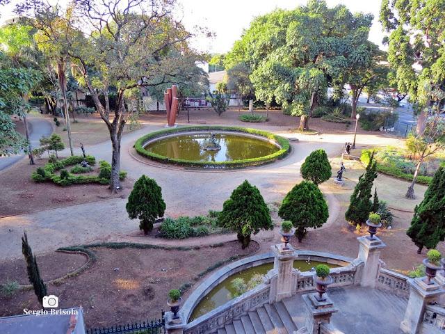 Vista ampla do Jardim Fonte da Garça - Parque da Luz - São Paulo