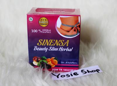 Sinensa Beauty Slim Herbal Suplemen Pelangsing dan Pemutih Kulit BPOM