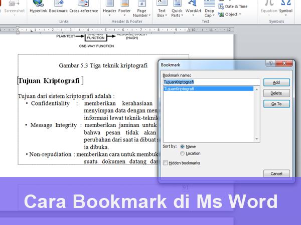 Cara Bookmark di Ms Word