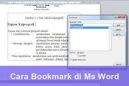 Cara Membuat Bookmark atau Menandai Isi Dokumen Ms Word