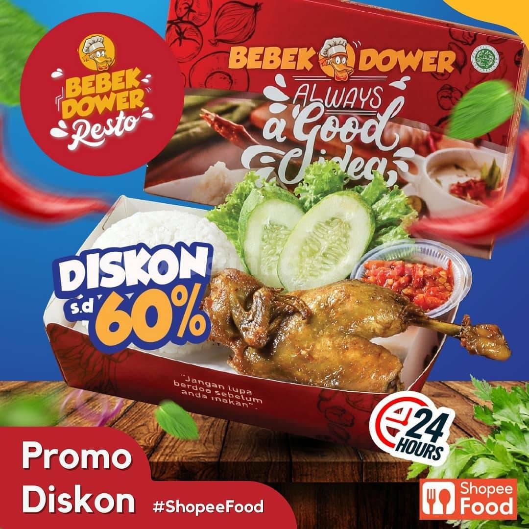 Promo Resto Bebek Dower Diskon 60% via ShopeeFood