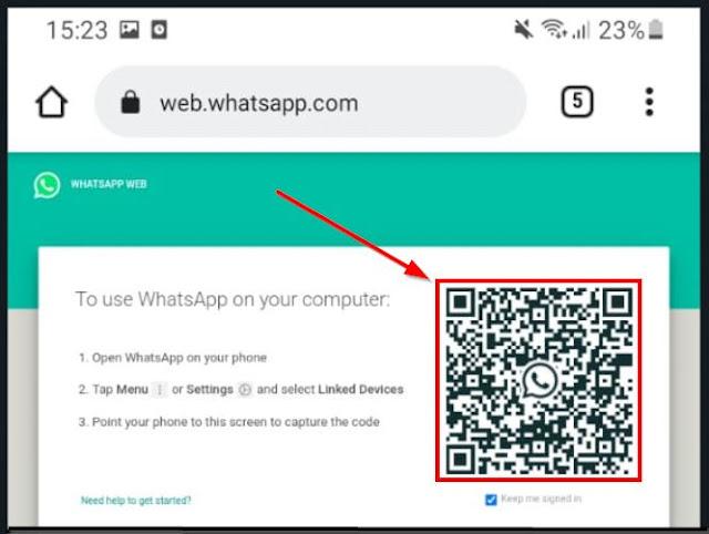 login qr code wa web dari hp