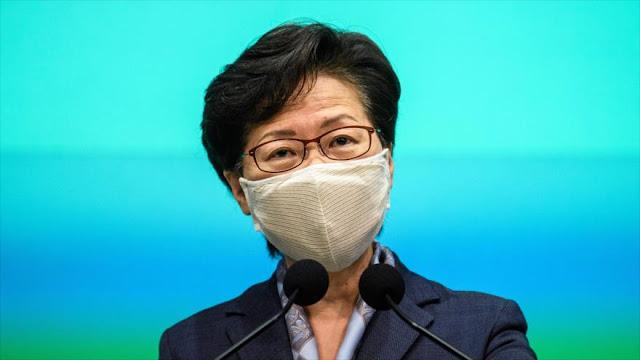 EEUU sanciona a líder de Hong Kong y varios funcionarios chinos