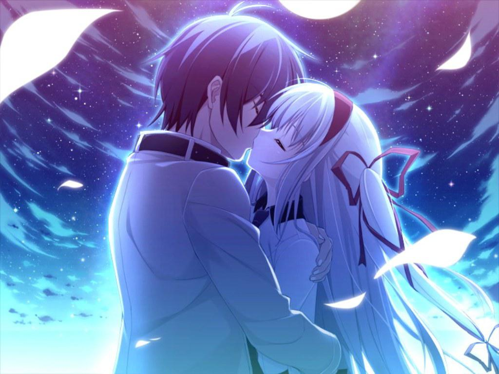 Romance Anime Love Couple Kissing Images Hd-4931