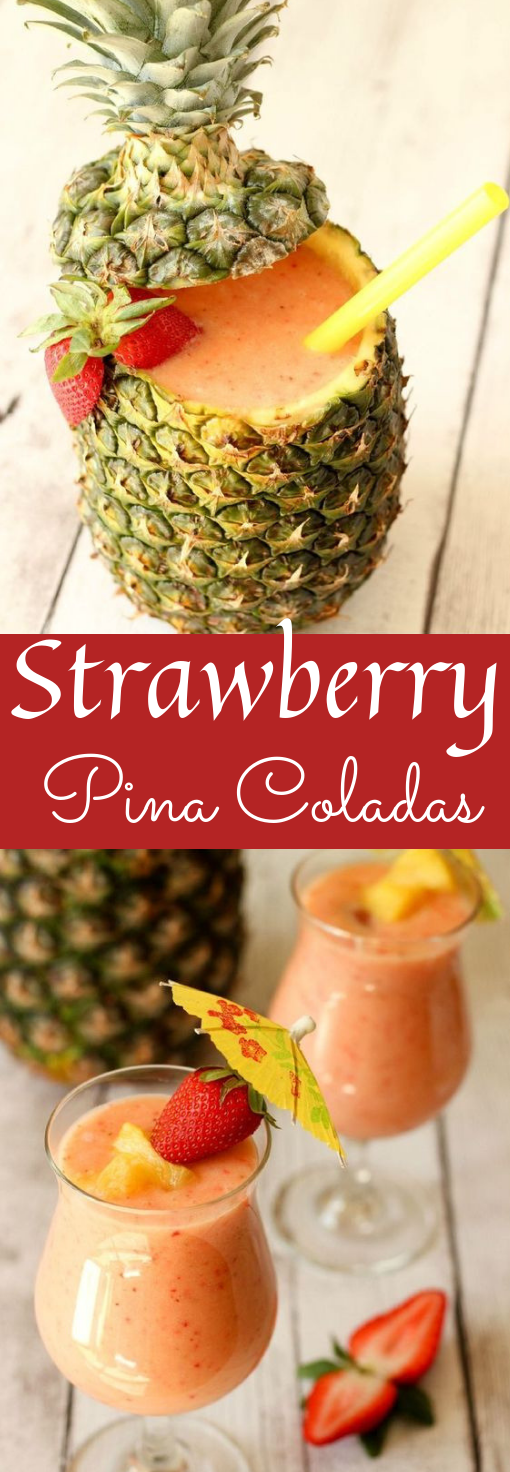SUMMERTIME STRAWBERRY PINA COLADAS #summer #drink
