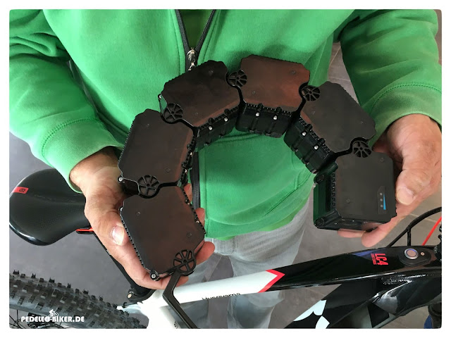 Durch die flexible Linkage-Batterie wird eine wesentlich kleinere Öffnung im Oberrohr des e-Bikes ermöglicht.