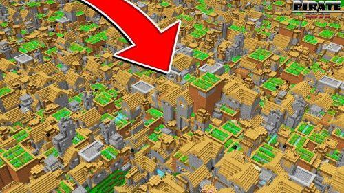 Gắn kết thành ngôi làng không tập trung là kiểu kết nối ra mặt trước tiên trong Minecraft