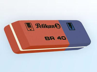 Gomma rossoblu della Pelikan BR 40