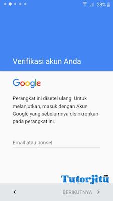 akun gmail terkunci samsung