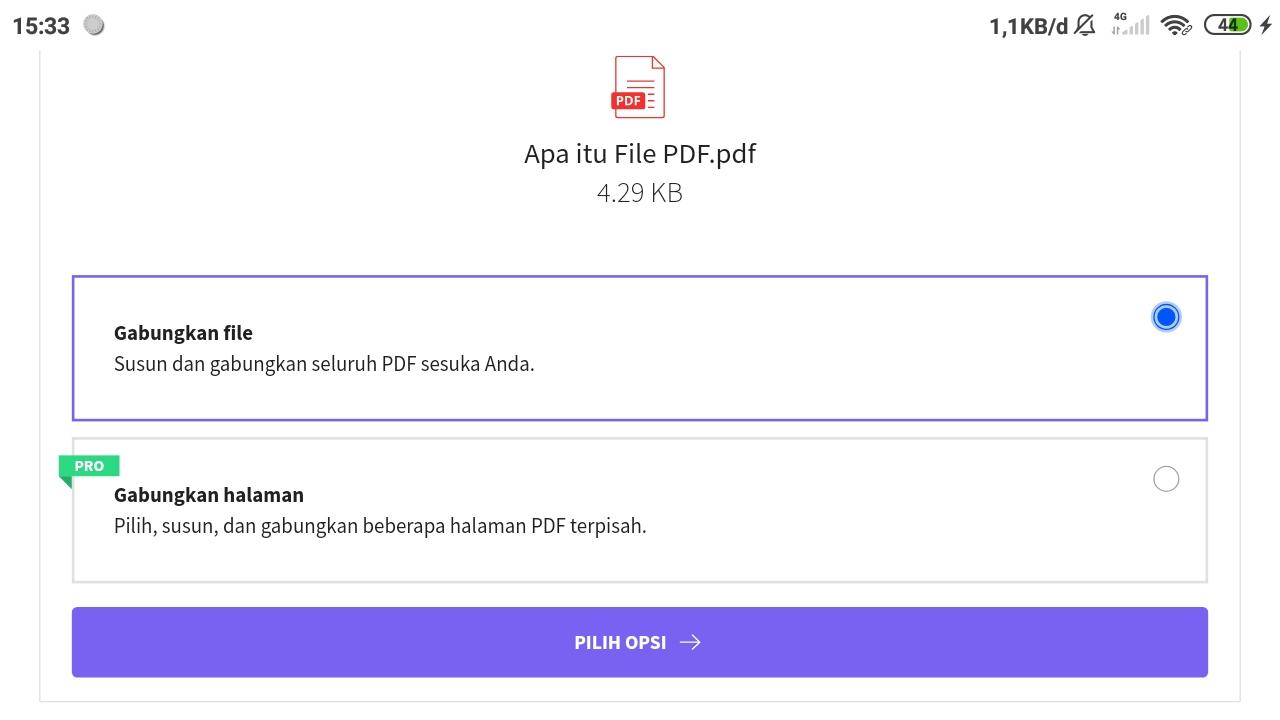 Pilih Menu Gabungkan File