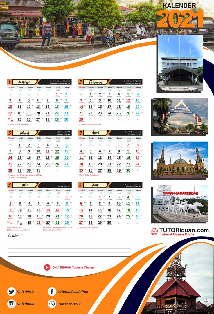 Template Kalender 2021 3 Bulan - Celoteh Bijak
