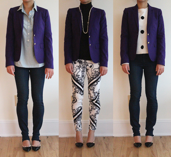 Wear It Five Ways : Purple Schoolboy Blazer